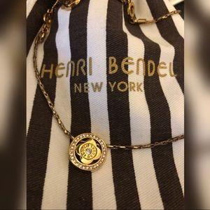 Henri Bendel Gold Sundial Short Pendant Necklace